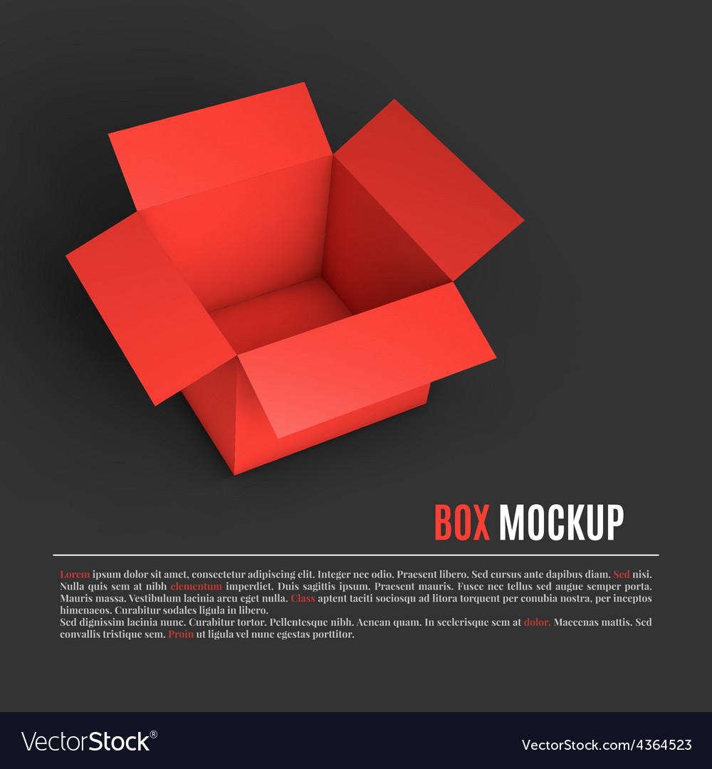 Open box mockup template