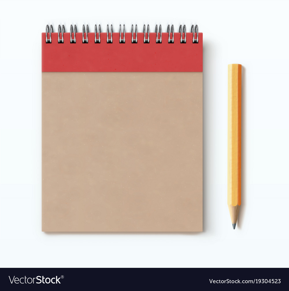 Spiral brown notebook