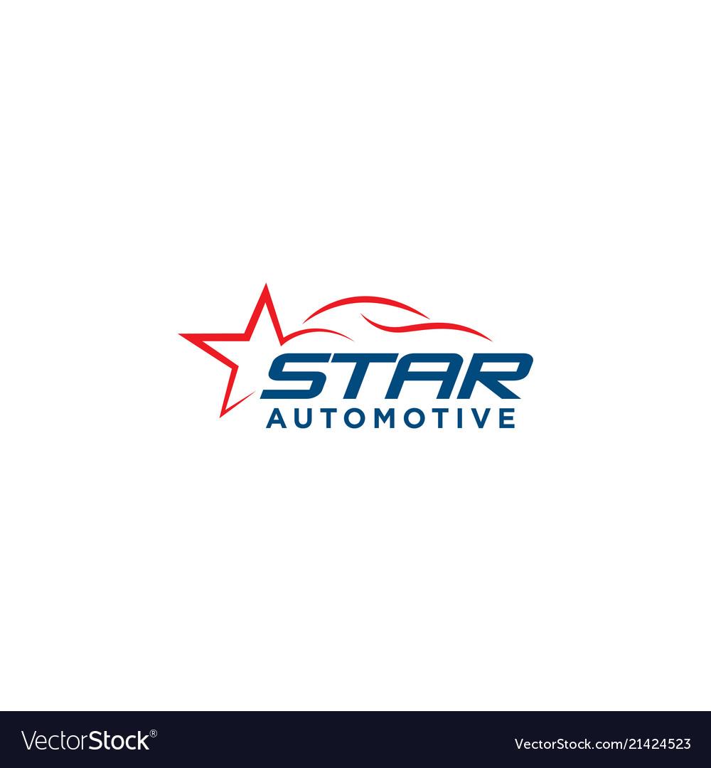 Star automotive car logo design template