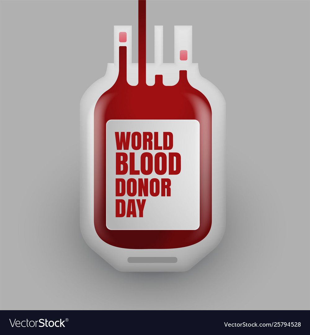 Blood donation bottle for world blood donor day