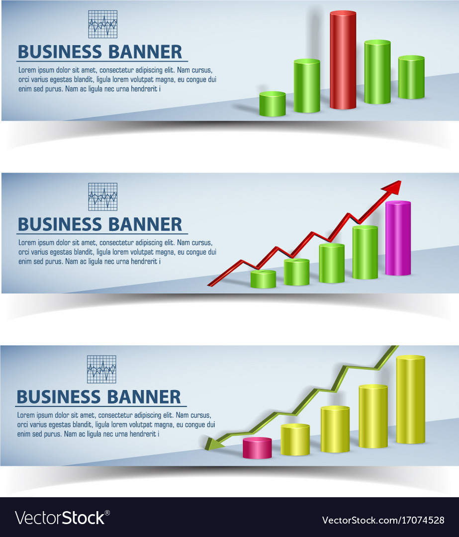 Business infographic horizontal banners