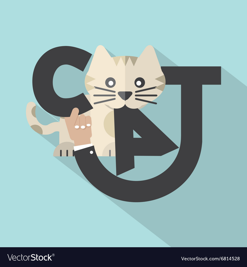 Cat Typography Design