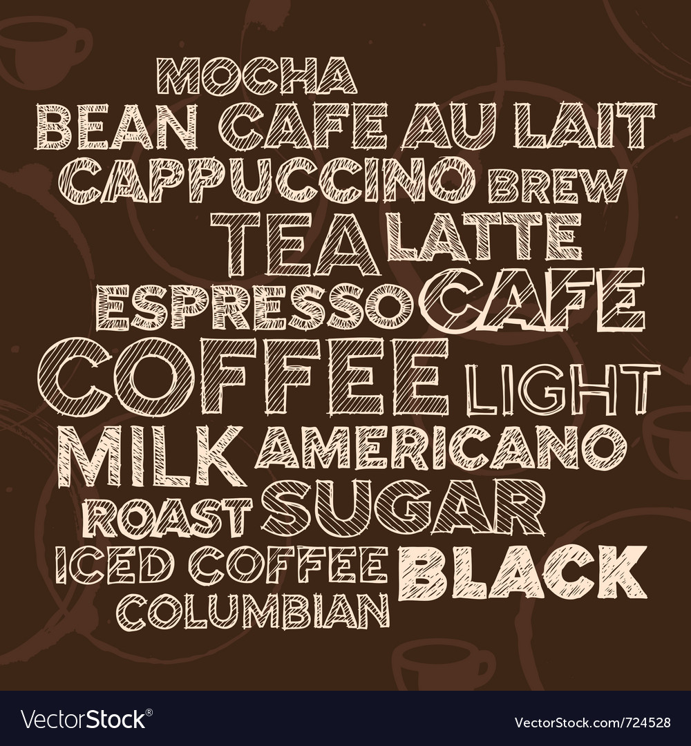 Coffee text design