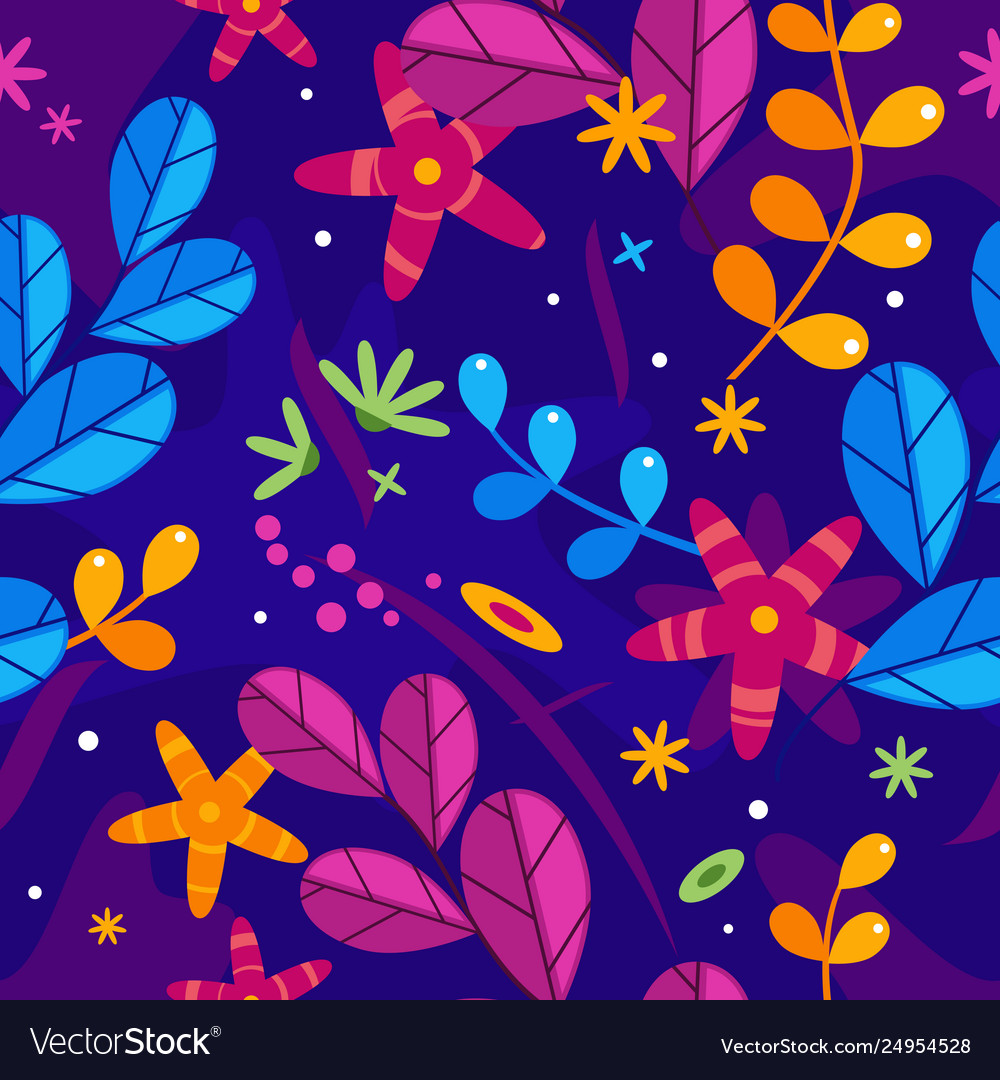 Floral simplify seamless pattern