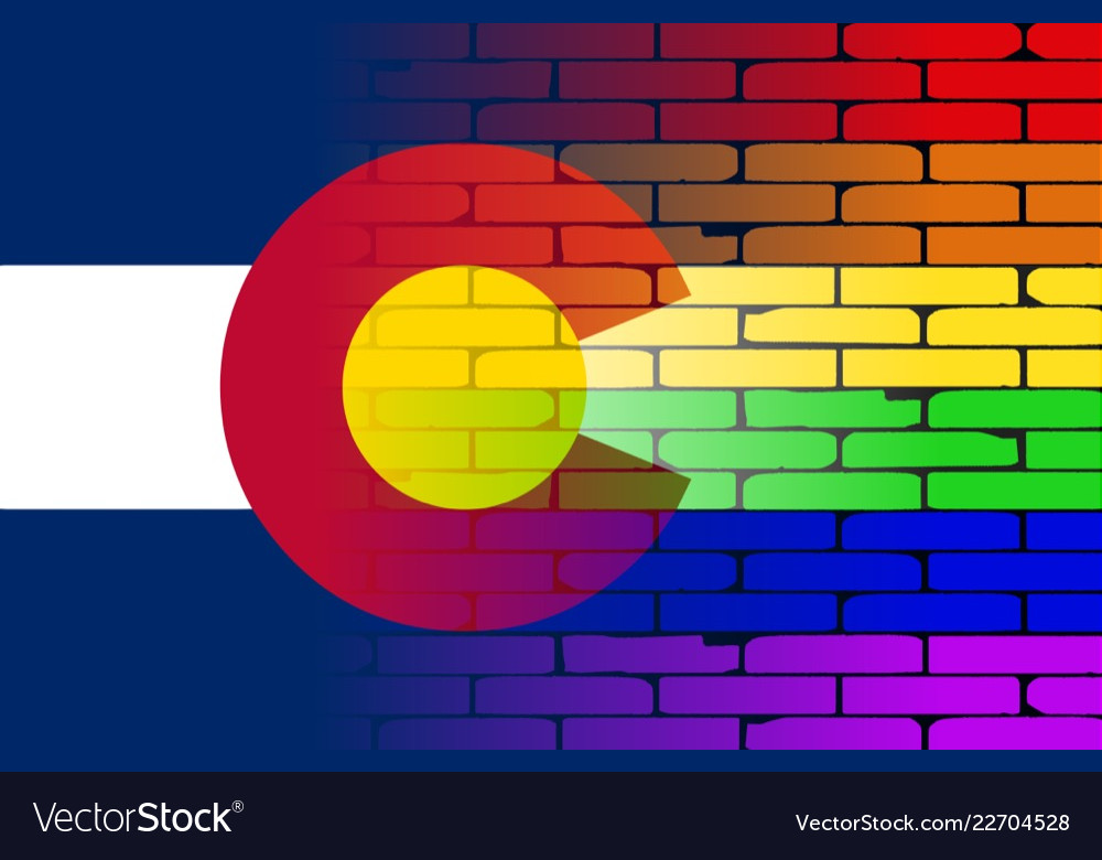 Rainbow Wall Colorado Flag Vector Image