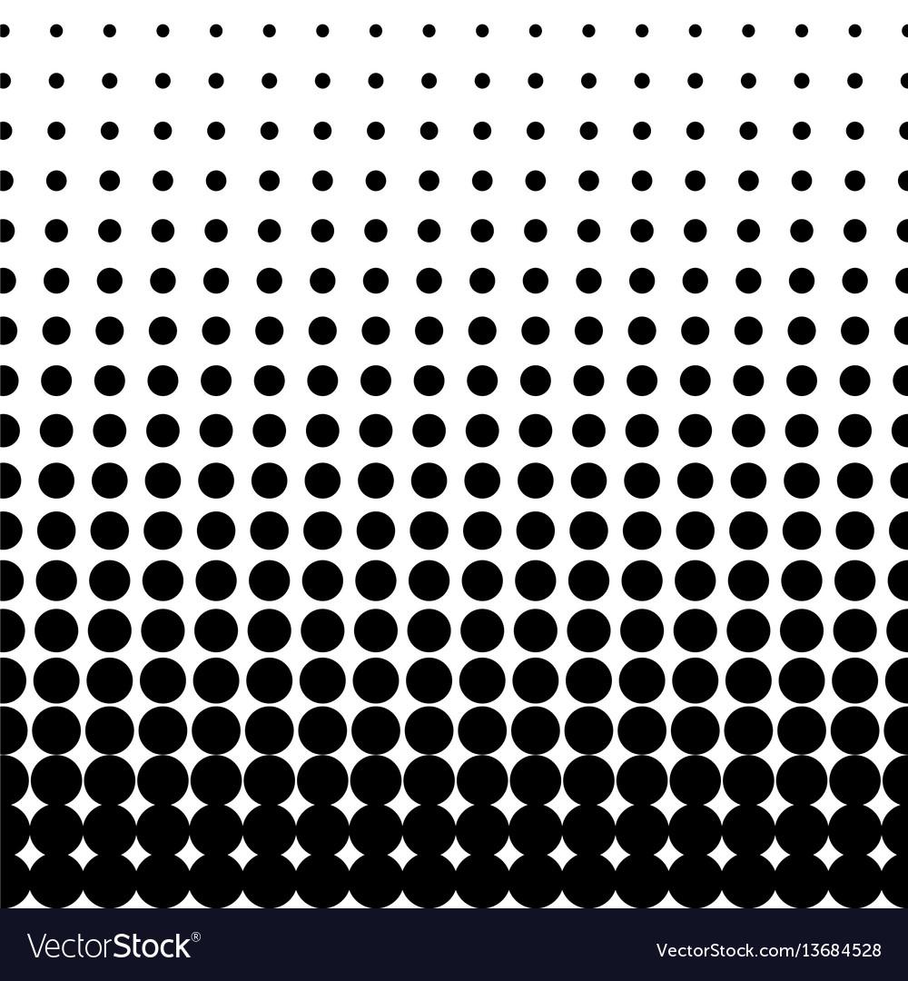 Halftone dots black dots on white