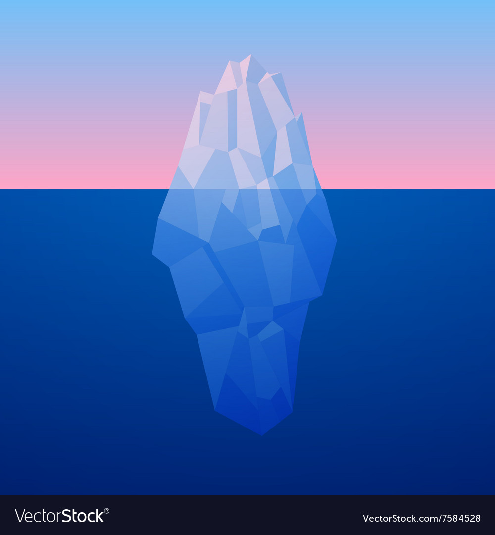 Iceberg Background In Low Poly Style