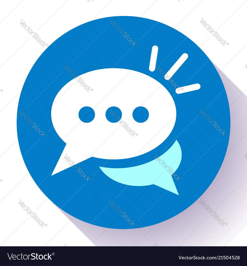 Live chat icon with dialog clouds speech