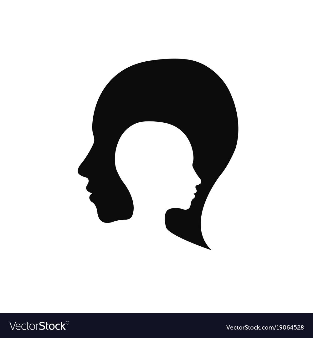 modern head logo of company profile human vector image vectorstock
