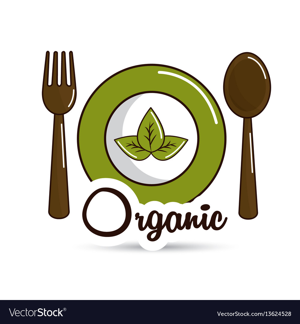 Natural food icon stock