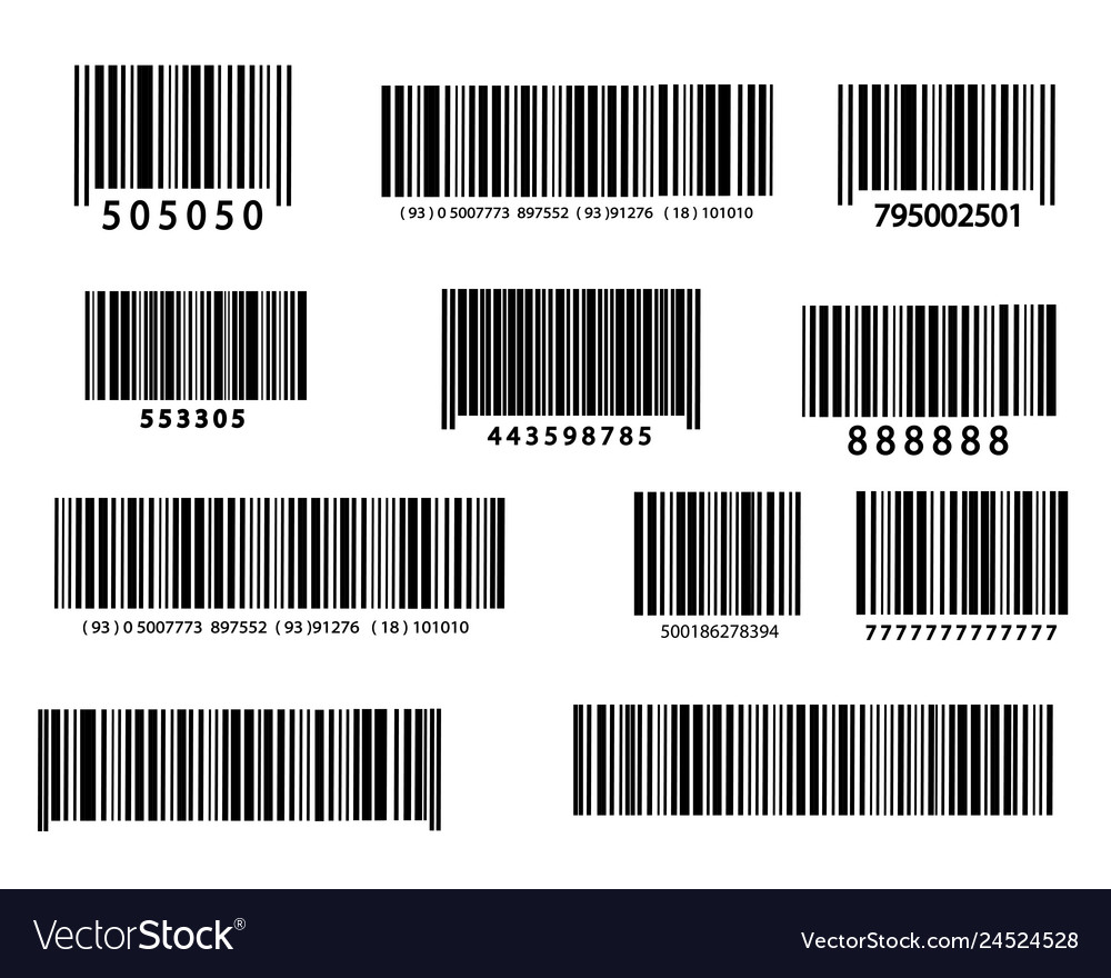 Realistic bar code icon
