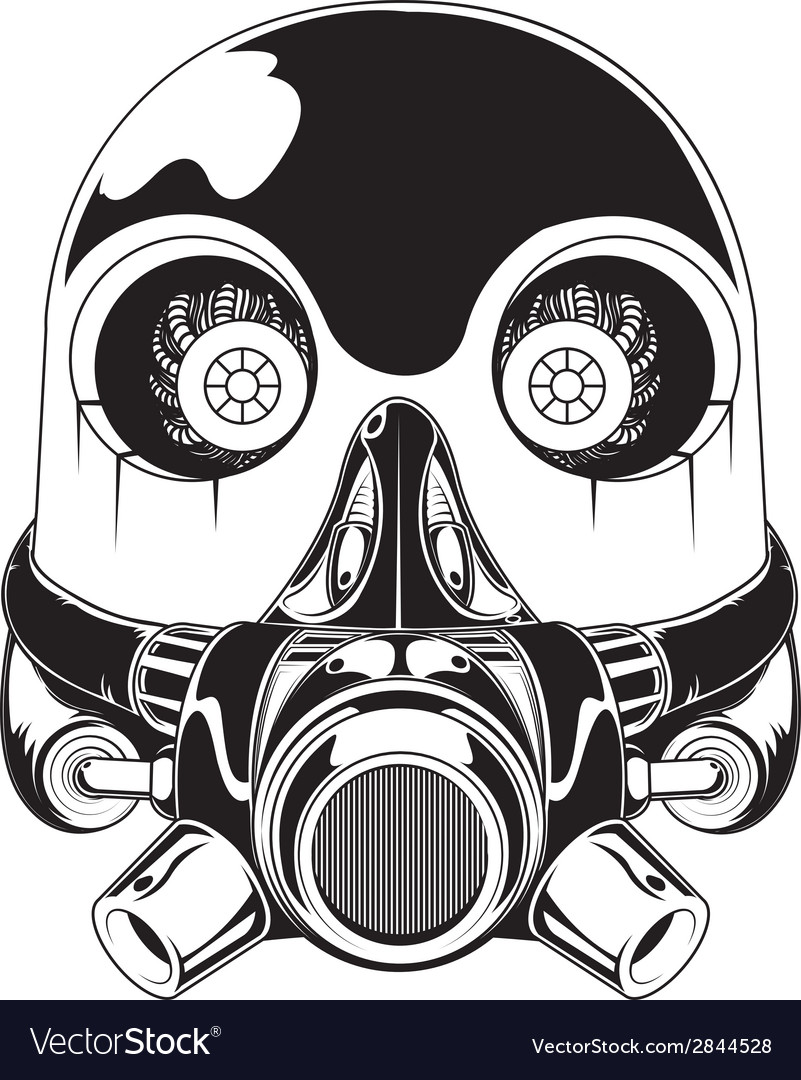 Robot Mask vector image