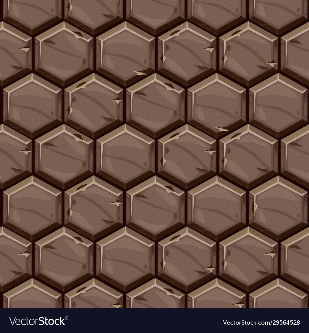 Hexagonal Stone Tiles Vector Image