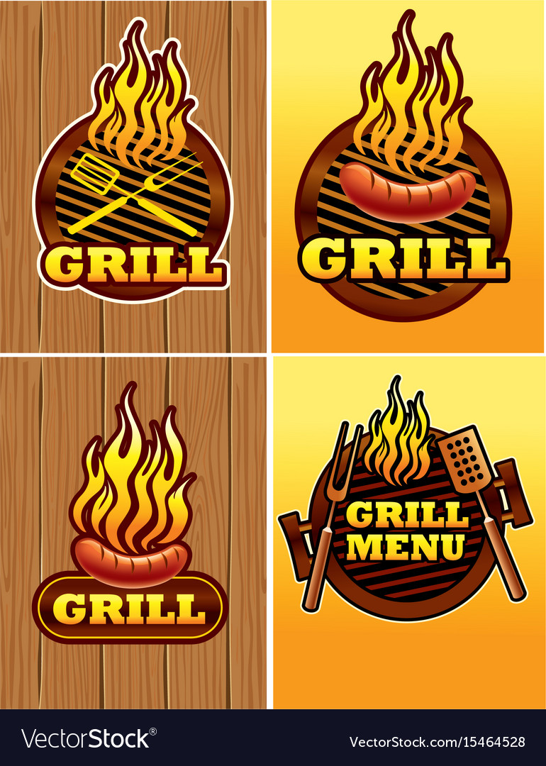 Signs of grill and barbecue