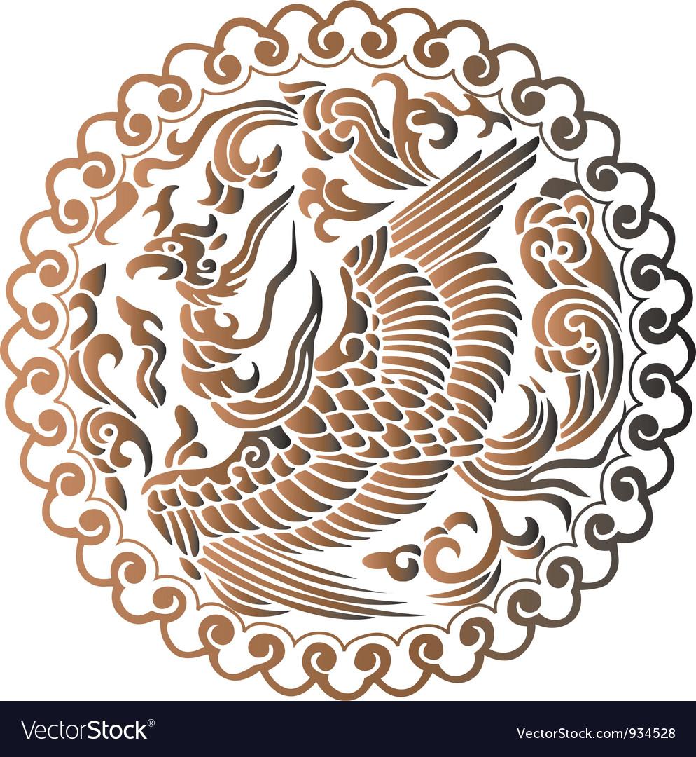 The Phoenix of Chinese Mythology vector image
