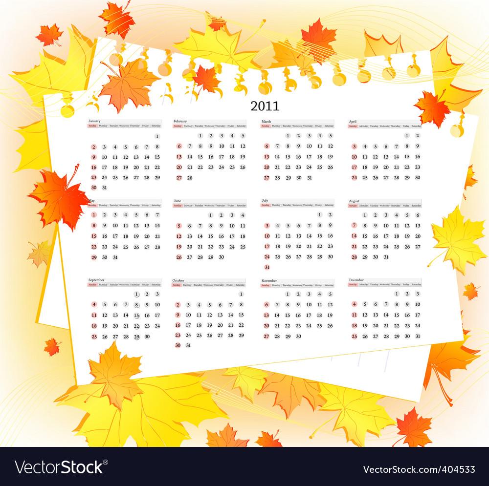 2011 calendar template. Autum 2011 Calendar Template
