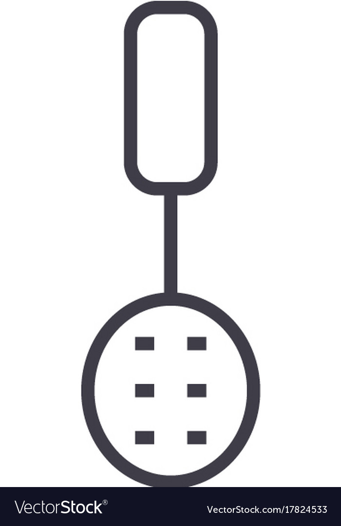 Colander line icon sign on