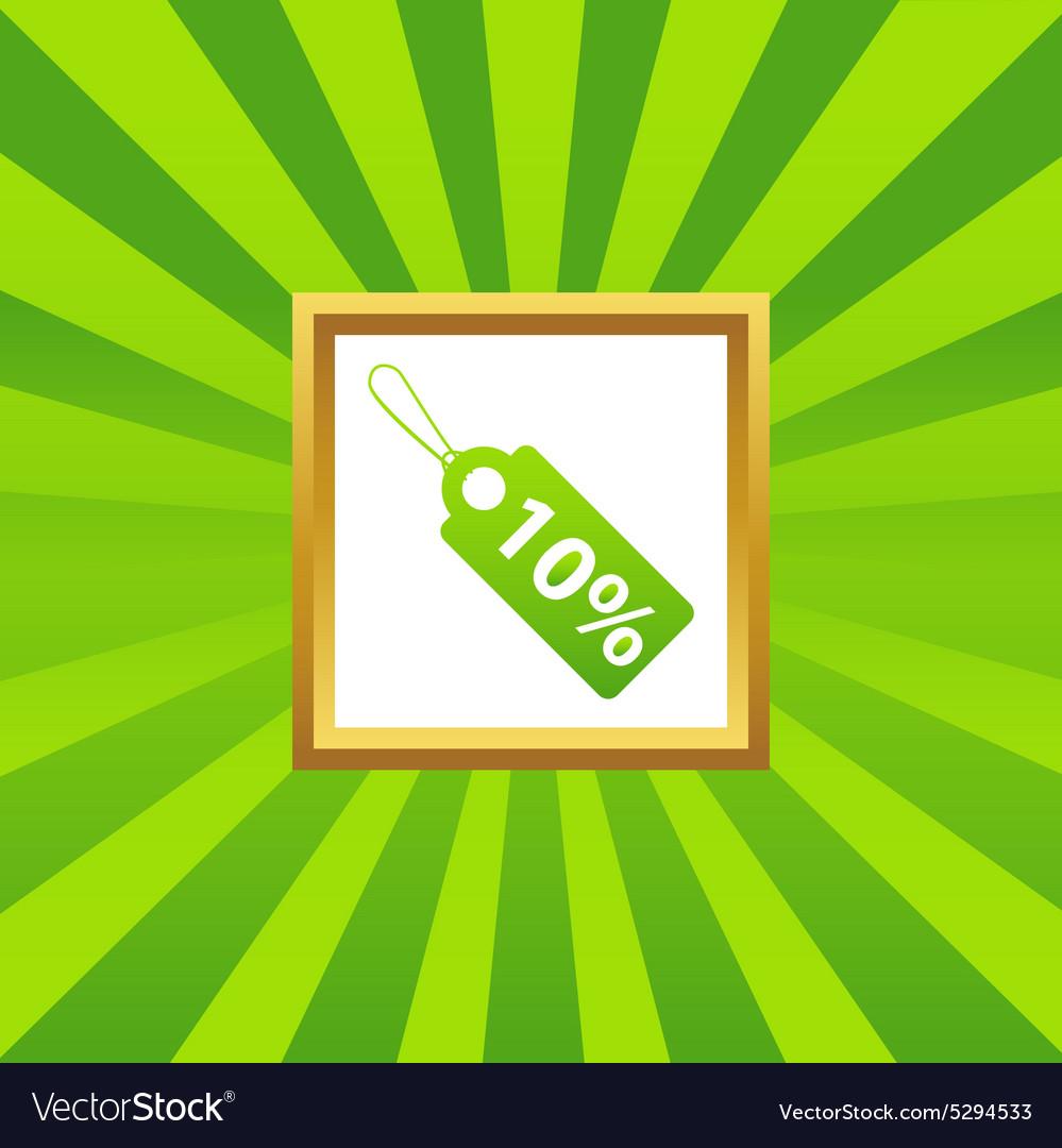 Discount picture icon