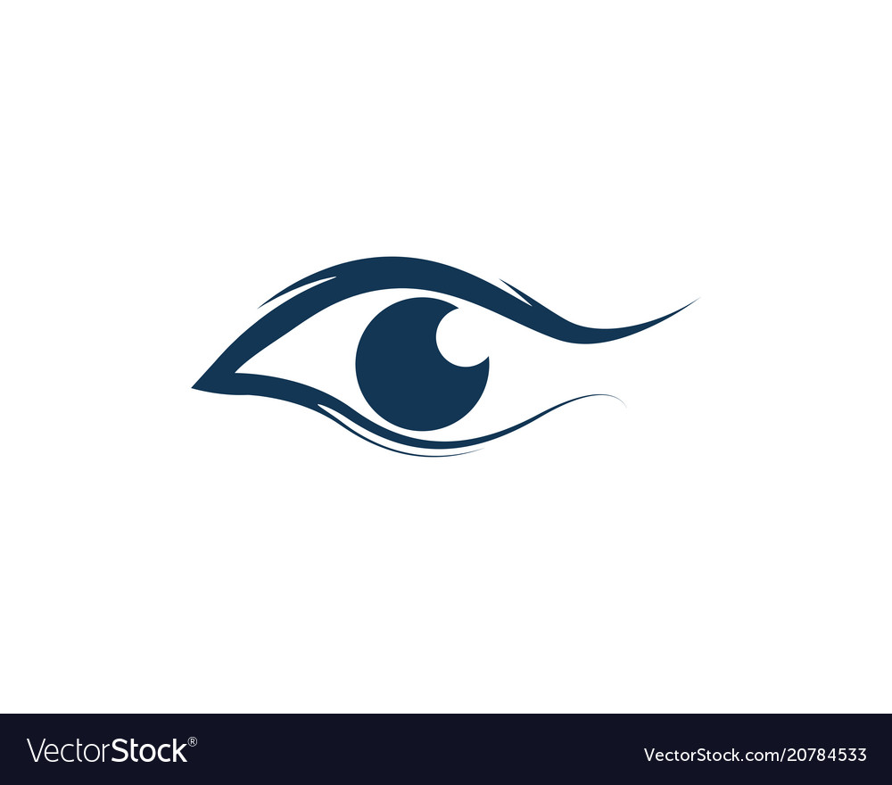 Eye care logo and symbols template icons vector image