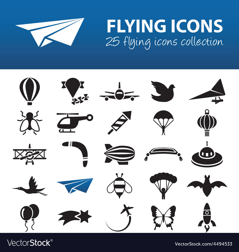 Flying icons