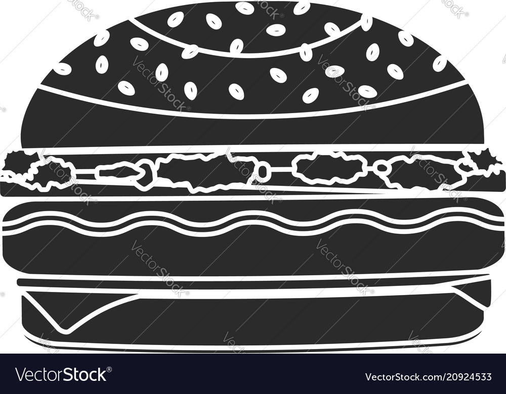 Monochrome black humburger symbol