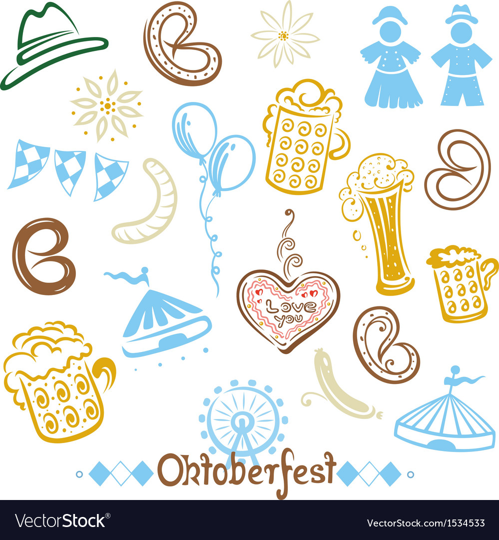 Oktoberfest objects and symbols