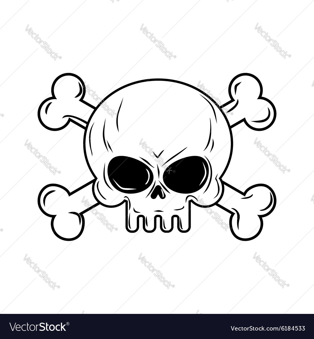 Skull with bones Pirates sign Head skeleto