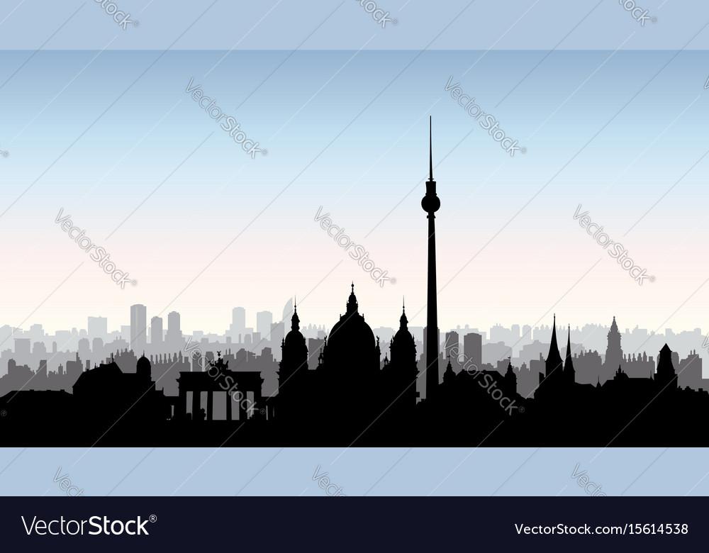 Berlin city buildings silhouette german urban
