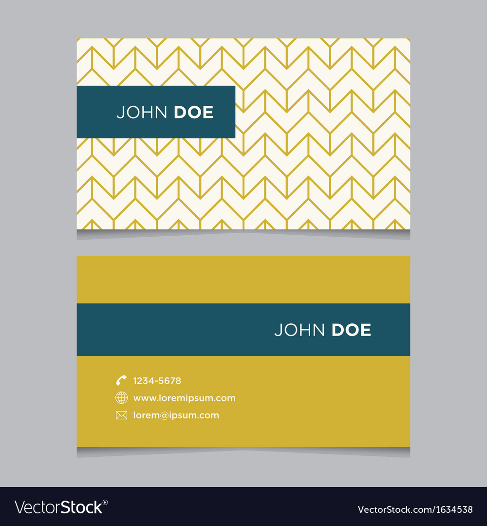 Business card pattern yellow 02 Royalty Free Vector Image