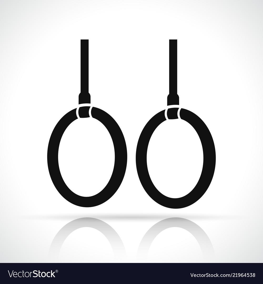 Gymnastic rings icon concept
