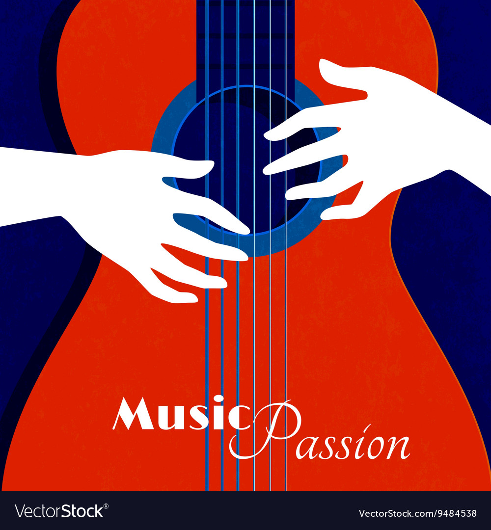 Music Passion Poster vector image