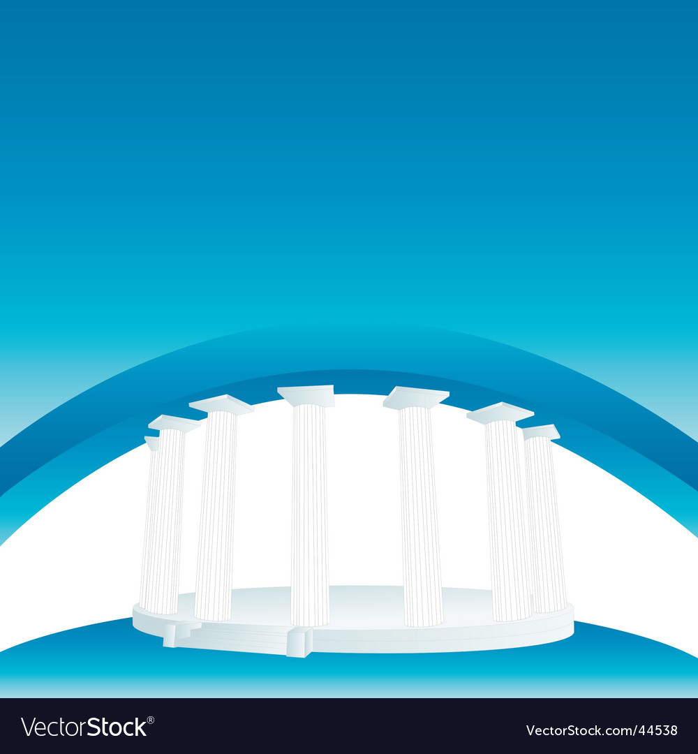 Pillar banner vector image