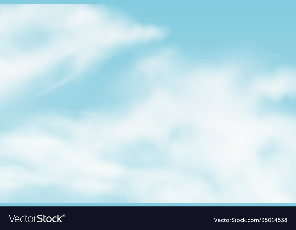 Realistic background with summer clouds