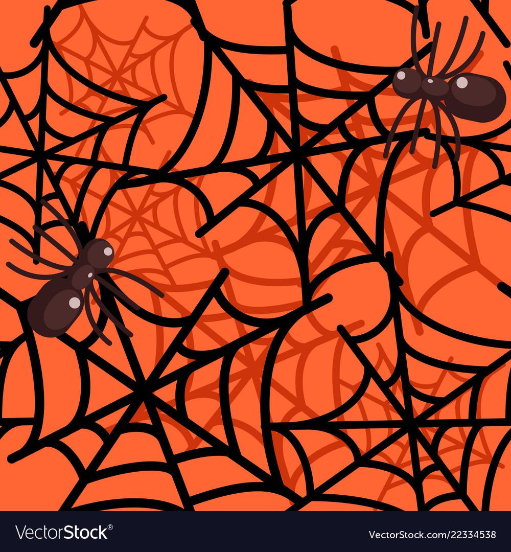spider web seamless halloween pattern royalty free vector