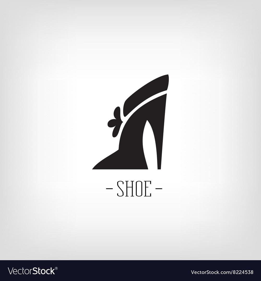 Stylized womens shoes Icon shoe store Logo