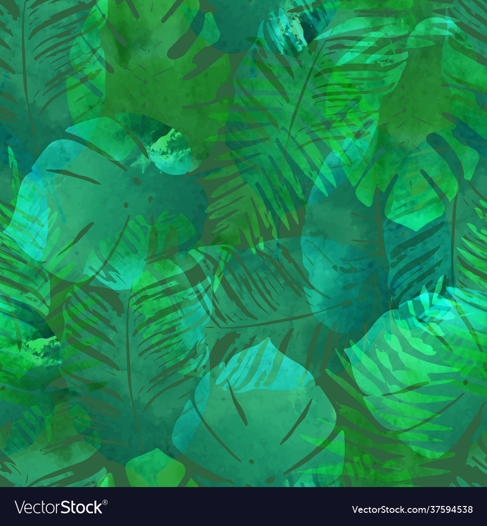 Summer exotic floral tropical palm