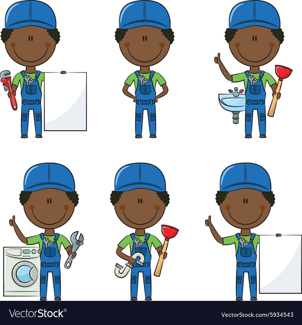 African-American plumber