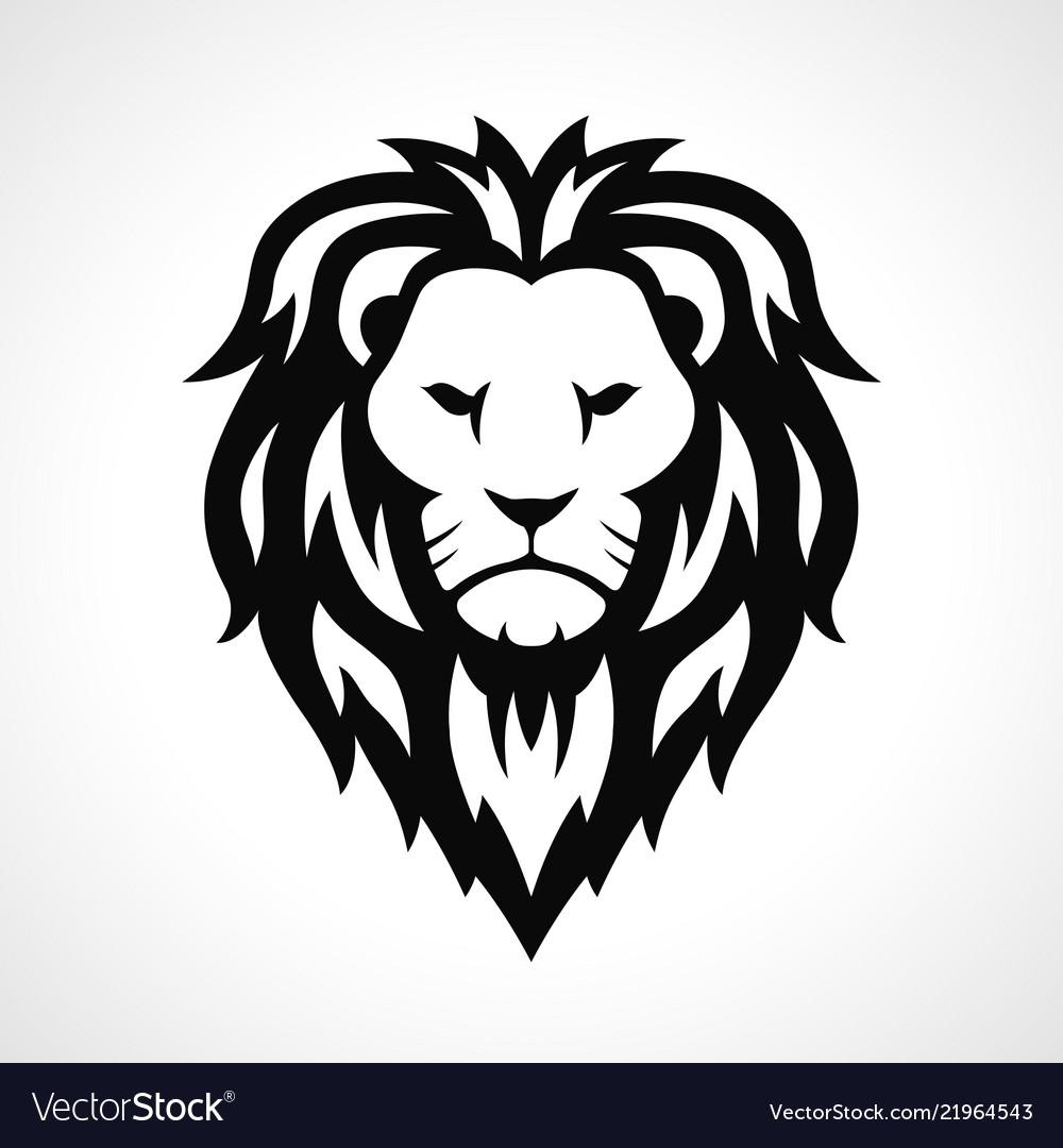 Lion head icon design