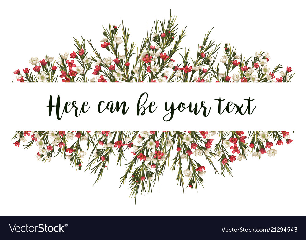 Lovely wishes floral design frame white and red