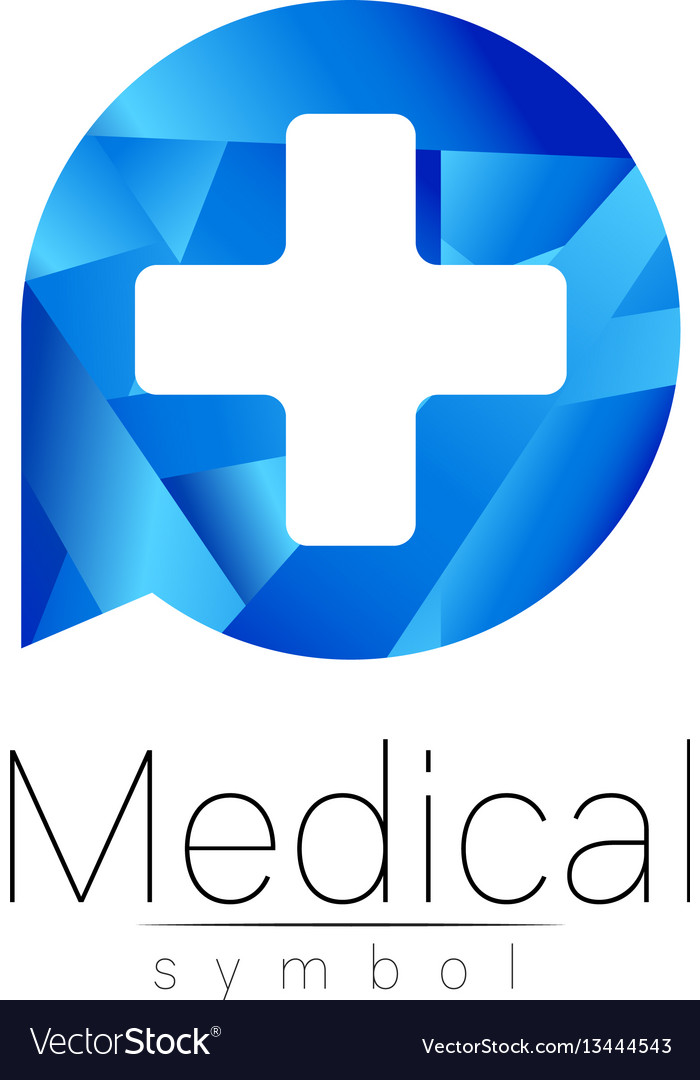 Medical sign with cross symbol for doctors