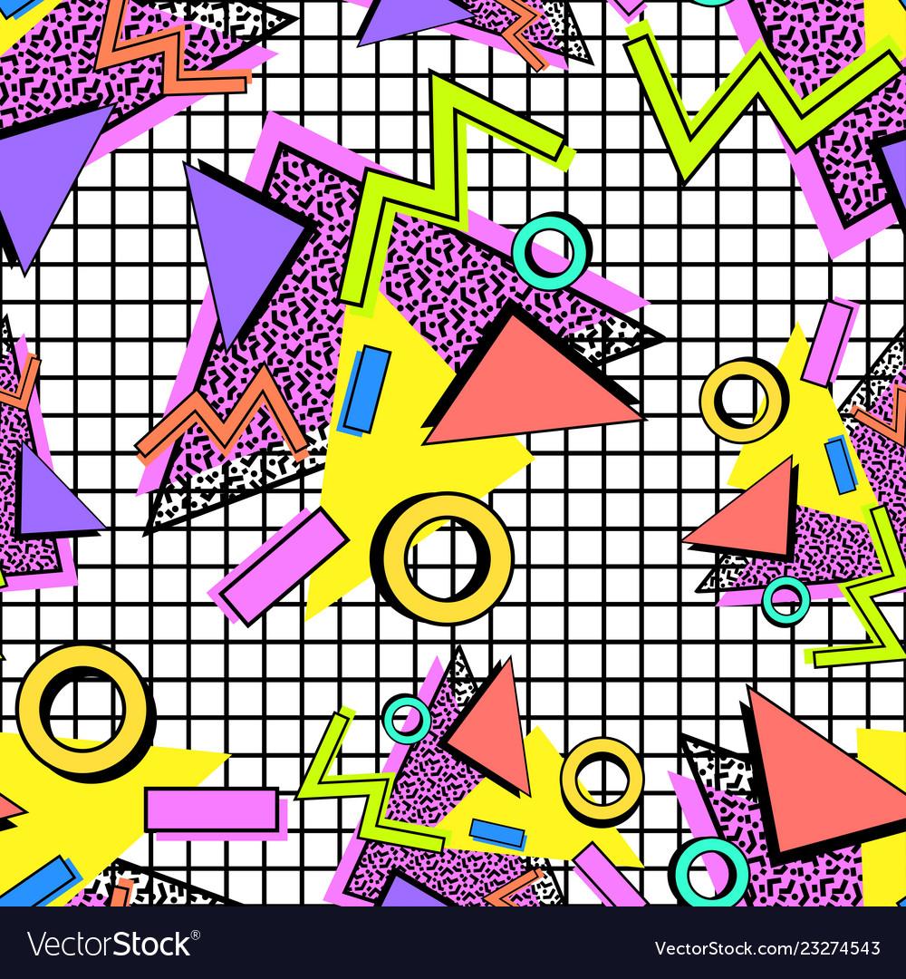 Memphis 80s pattern