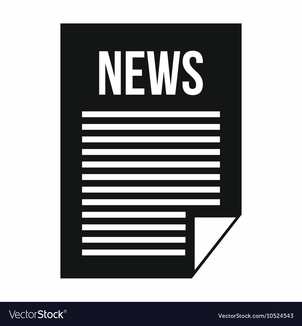 news newspaper icon simple style royalty free vector image