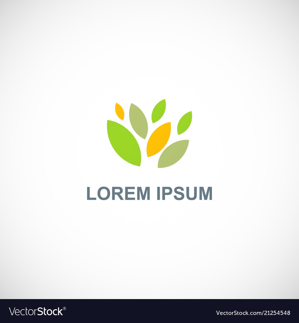 Abstract leaf colored logo