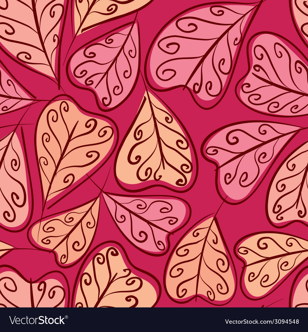 Autumn leaves seamless pattern floral seamless