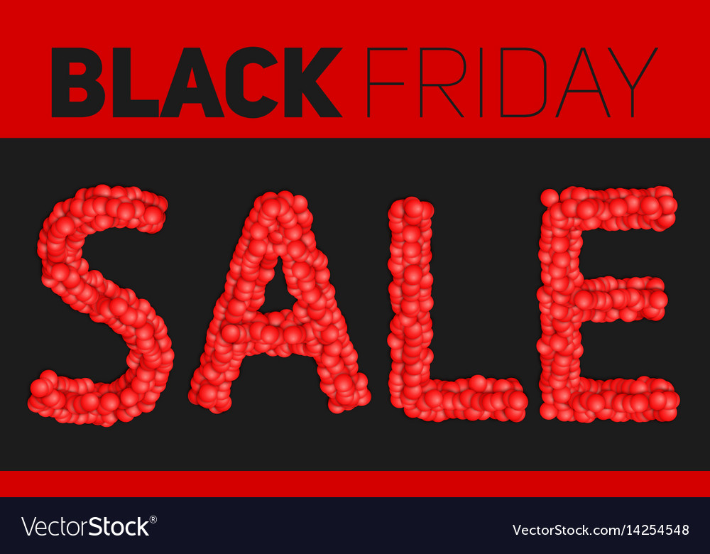 Black friday sale sale constructed vector image