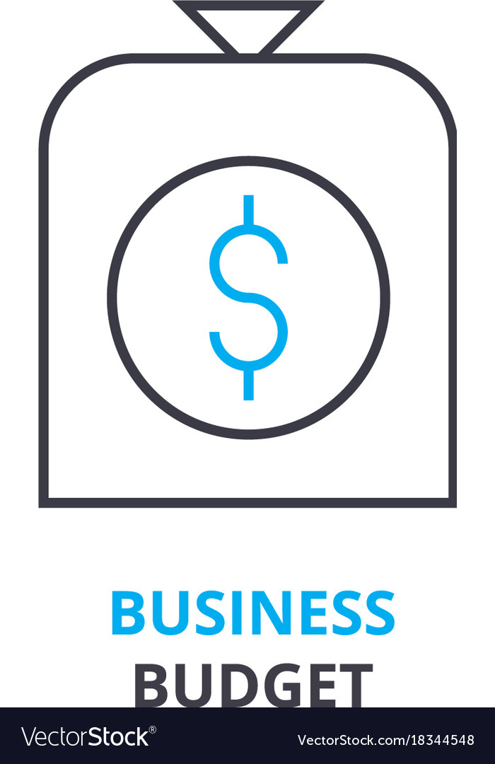 Business budget concept outline icon linear