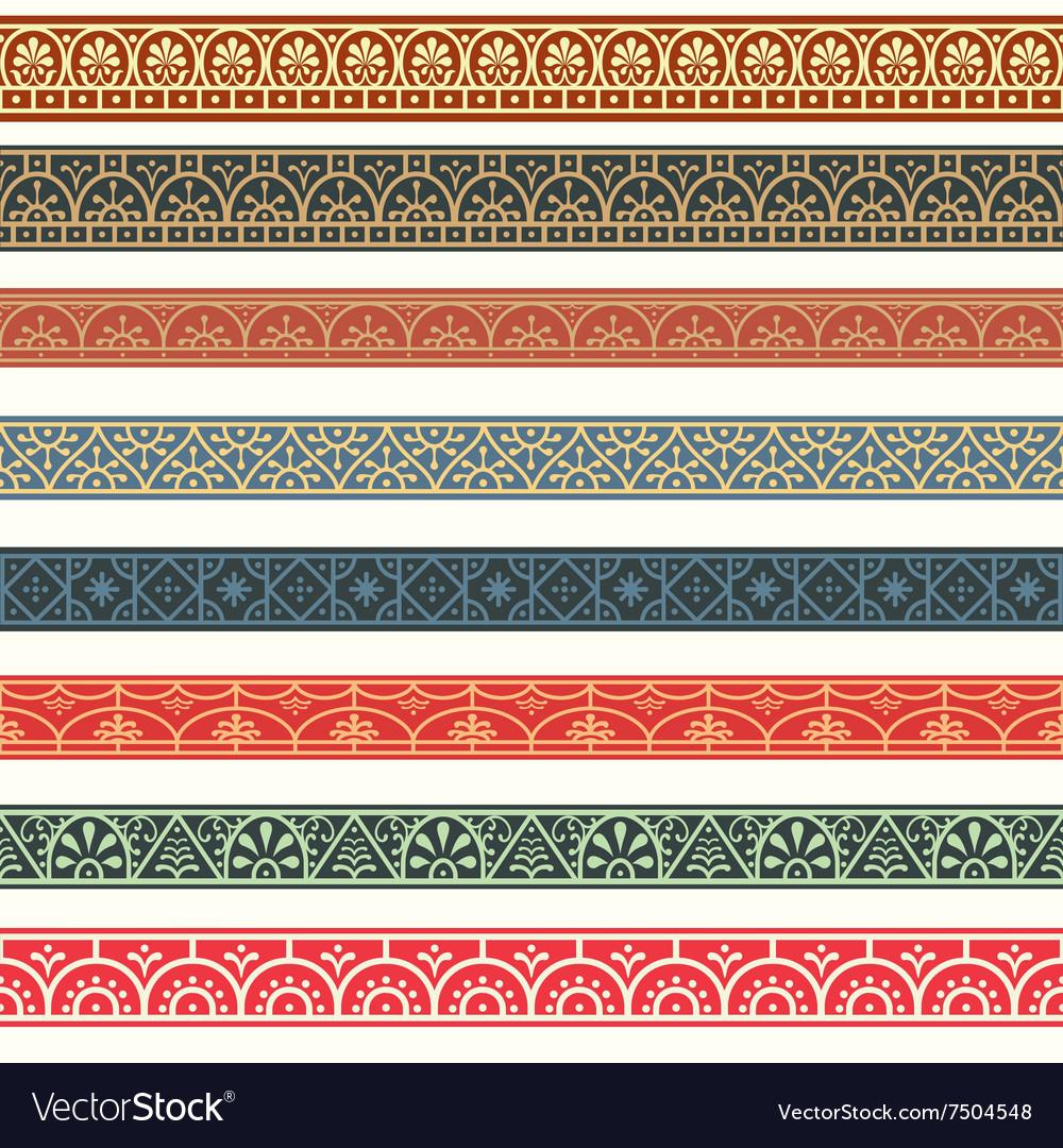 Design elements pompeian roman borders classical