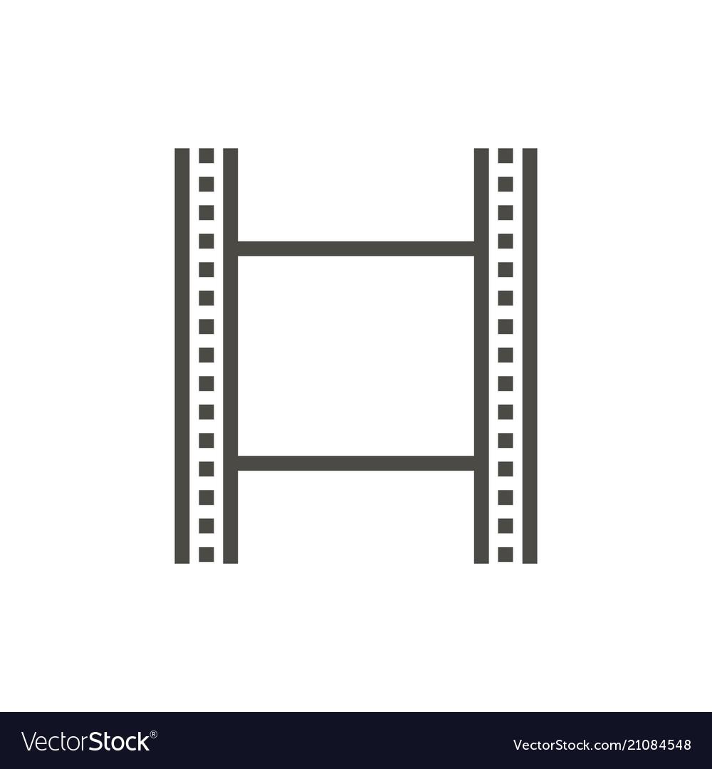 Film strip icon line cinema symbol