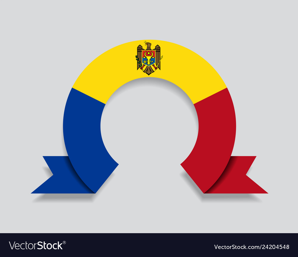 Moldovan flag rounded abstract background