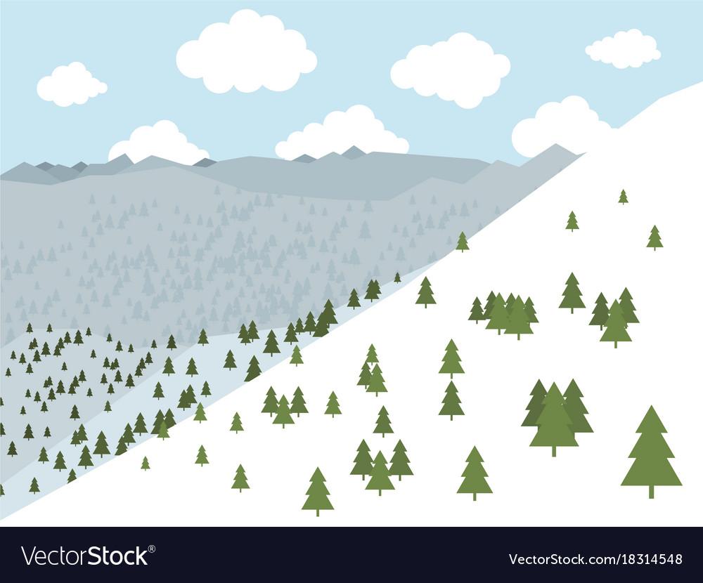 Mountains2 vector image